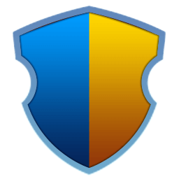 Elegant Blue Yellow Shield.png