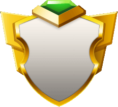 Elegant Gray Emerald Shield.png