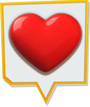 Yellow-Bordered Heart Icon.png
