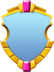 Elegant Blue Double Rose Shield.png