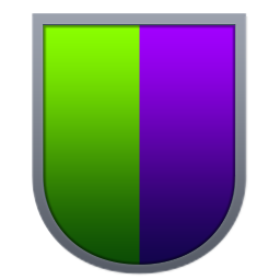 Curved Green Purple Shield.png