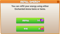Refill Arena Energy